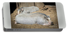 Piggies Portable Battery Charger by Cheryl McClure