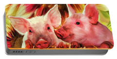 Piglet Playmates Portable Battery Charger by Tina LeCour