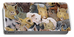 Pigs Galore Portable Battery Charger by Pat Scott
