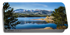 Pikes Peak Over Crystal Lake Portable Battery Charger