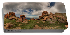 Pikes Peak Panorama Portable Battery Charger by Chris Bordeleau