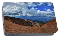 Portable Battery Charger featuring the photograph Pikes Peak Summit Vista #1 by Chris Bordeleau