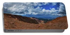 Pikes Peak Summit Vista #1 Portable Battery Charger by Chris Bordeleau