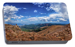 Portable Battery Charger featuring the photograph Pikes Peak Summit Vista #2 by Chris Bordeleau