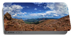 Pikes Peak Summit Vista #2 Portable Battery Charger by Chris Bordeleau