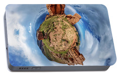 Portable Battery Charger featuring the photograph Pikes Peak Tiny Planet #1 by Chris Bordeleau