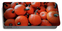 Pile Of Pumpkins Portable Battery Charger
