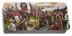 American    History  Pilgrims On The Plain Portable Battery Charger