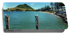Pilot Bay Beach 1 - Mt Maunganui Tauranga New Zealand Portable Battery Charger by Selena Boron