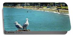Pilot Bay Beach 4 - Mount Maunganui Tauranga New Zealand Portable Battery Charger by Selena Boron
