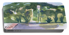 Portable Battery Charger featuring the painting Pilot Knob Mountain W404 by Kip DeVore