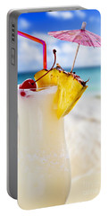 Pina Colada Cocktail On The Beach Portable Battery Charger