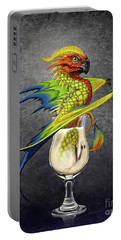 Portable Battery Charger featuring the digital art Pina Colada Dragon by Stanley Morrison