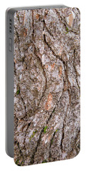 Portable Battery Charger featuring the photograph Pine Bark Abstract by Christina Rollo