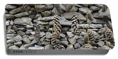 Pine Cone And Stones Portable Battery Charger