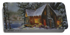 Pine Cove Cabin Portable Battery Charger