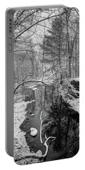 Pine Reflection On The Sheepscot Portable Battery Charger