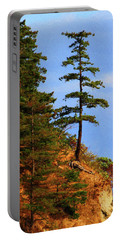 Pine Tree Along The Oregon Coast Portable Battery Charger by Tom Janca