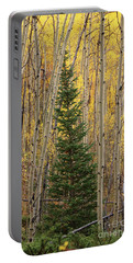 Pine Tree Among Aspens  4874 Portable Battery Charger