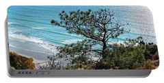 Pine Tree On Coast Portable Battery Charger
