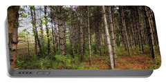 Pine Trees Of Whitetail Woods Park Portable Battery Charger