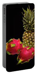 Portable Battery Charger featuring the photograph Pineapple And Dragon Fruit by David French