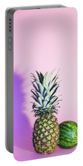Pineapple And Watermelon Portable Battery Charger by Happy Home Artistry