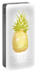 Portable Battery Charger featuring the painting Pineapple by Cindy Garber Iverson