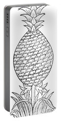 Pineapple Illustration From De La Natural Hystoria De Las Indias Portable Battery Charger
