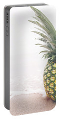 Pineapple On The Beach Portable Battery Charger by Happy Home Artistry