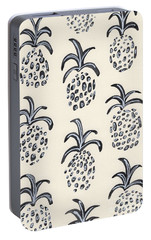 Pineapple Print Portable Battery Charger by Anne Seay