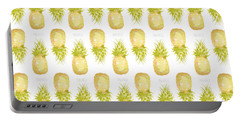 Portable Battery Charger featuring the painting Pineapple Print by Cindy Garber Iverson