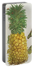 Pineapple With Caterpillar And Butterflies Portable Battery Charger