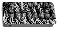 Pineapples In B/w Portable Battery Charger