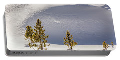 Pines In The Snow Drifts Portable Battery Charger