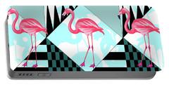 Ping Flamingo Portable Battery Charger by Mark Ashkenazi