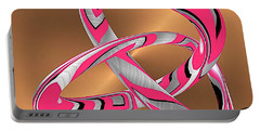 Pink Abstract On Gold Portable Battery Charger