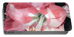 Pink Amaryllis Portable Battery Charger