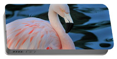 Pink And Black Portable Battery Charger by Shoal Hollingsworth
