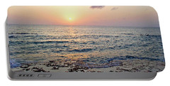 Portable Battery Charger featuring the photograph Pink And Purple Sunset Over Grand Cayman by Amy McDaniel