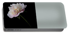 Pink And White Peony Portable Battery Charger