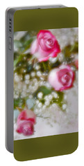 Portable Battery Charger featuring the photograph Pink And White Rose Bouquet by Diane Alexander