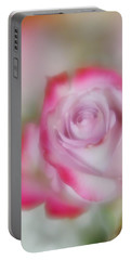 Portable Battery Charger featuring the photograph Pink And White Rose  by Diane Alexander