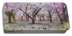 Portable Battery Charger featuring the photograph Pink And White Spring Blossoms - Boston Common by Joann Vitali