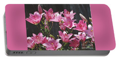Pink Asiatic Lilies Portable Battery Charger