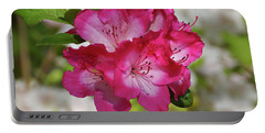 Portable Battery Charger featuring the photograph Pink Azalea by Sandy Keeton