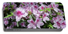 Portable Battery Charger featuring the photograph Pink Azaleas by Liza Eckardt