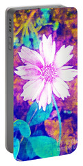 Pink Bloom Portable Battery Charger by Rachel Hannah