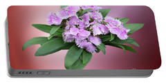 Pink Blooming Plant Portable Battery Charger by Linda Phelps