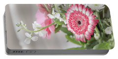 Portable Battery Charger featuring the photograph Pink Blooms Love by Kim Hojnacki